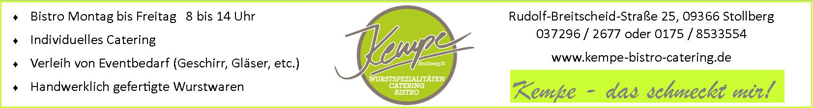 Anzeige Kempe Bistro Catering