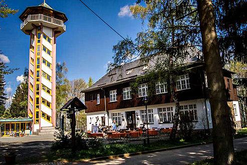 Außenansicht Bürger- und Berggasthof Scheibenberg